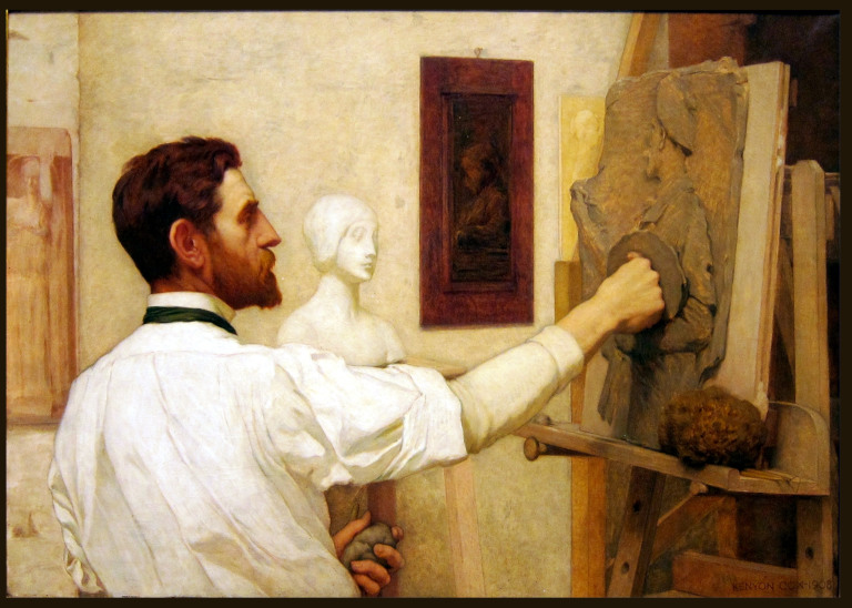 Kenyon Cox portrait of Saint-Gaudens